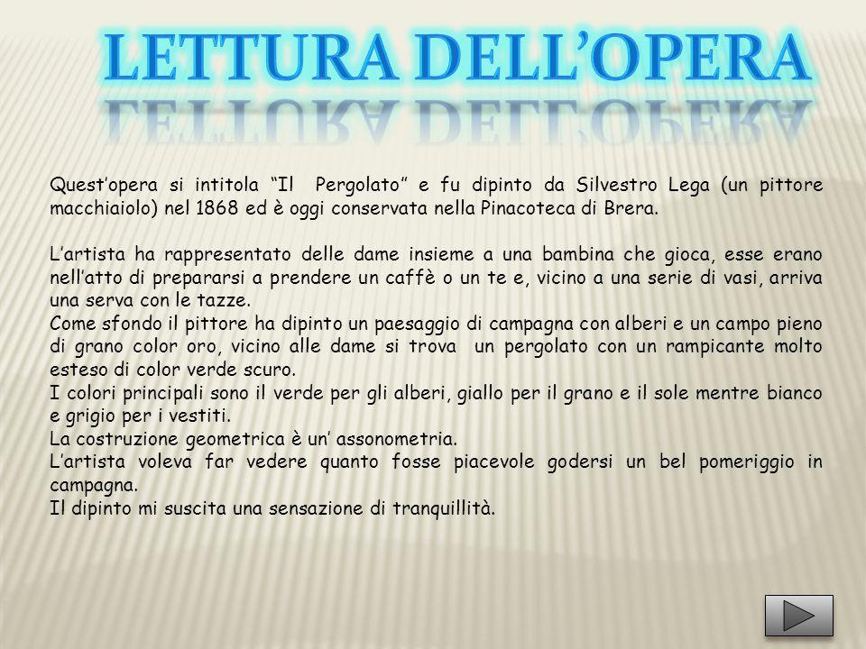 Lettura DELL'opera
