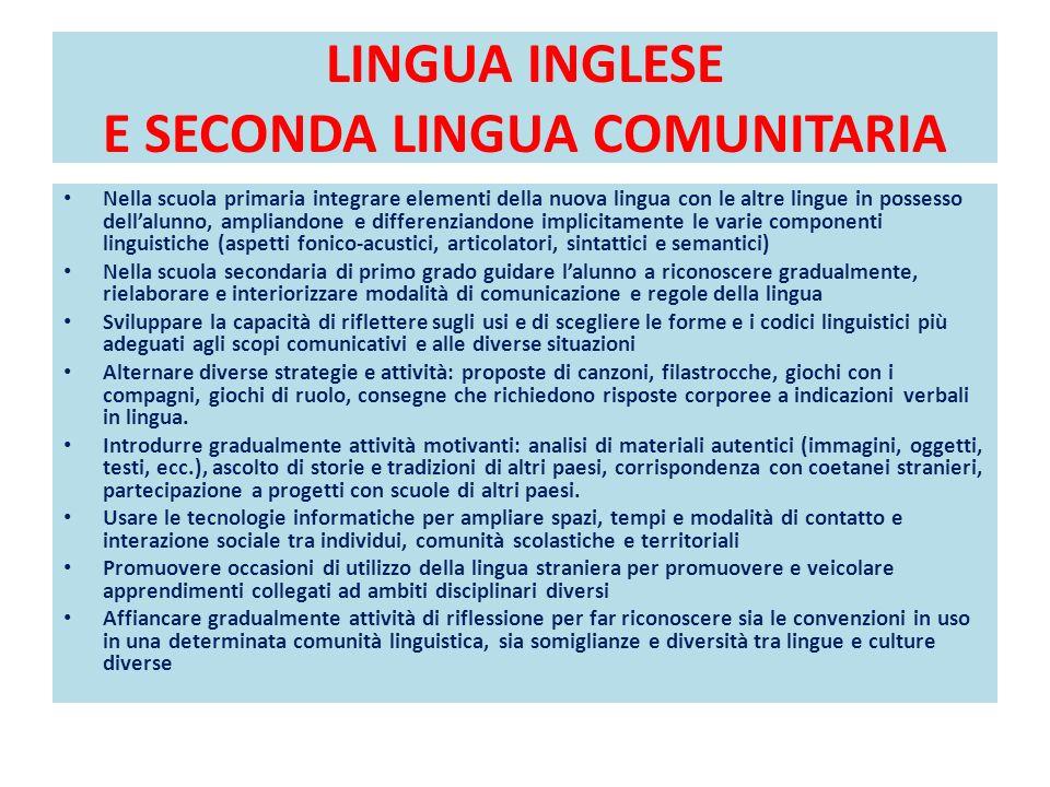 LINGUA INGLESE E SECONDA LINGUA COMUNITARIA DIDATTICA PER LA GRAMMATICA