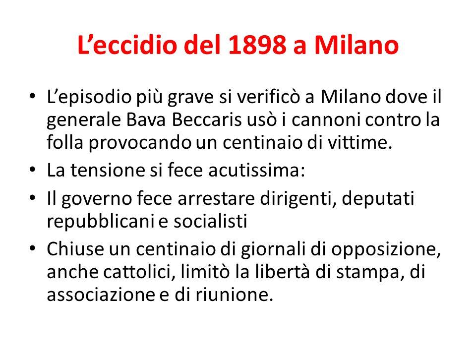 L'eccidio del 1898 a Milano