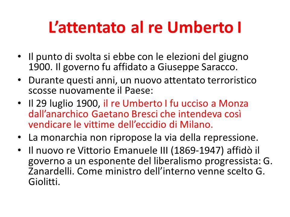 L'attentato al re Umberto I