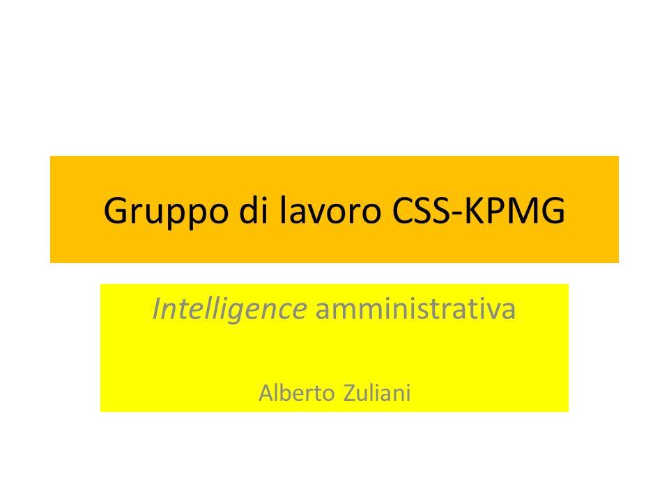 Gruppo di lavoro CSS-KPMG