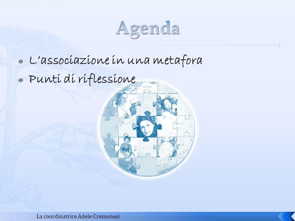 Agenda L'associazione in una metafora Punti di riflessione