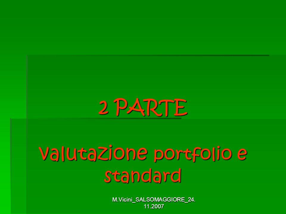 2 PARTE valutazione portfolio e standard