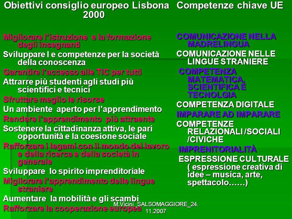 Obiettivi consiglio europeo Lisbona 2000