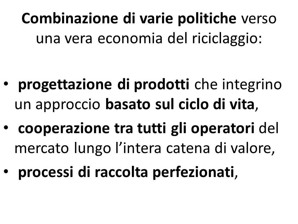 Combinazione di varie politiche verso una vera economia del riciclaggio: