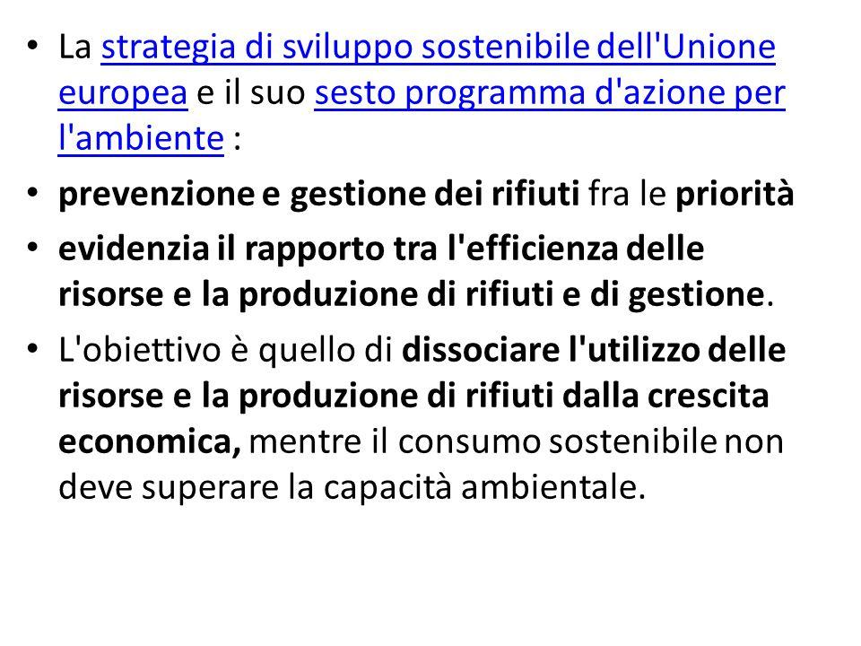 La strategia di sviluppo sostenibile dell Unione europea e il suo sesto programma d azione per l ambiente :