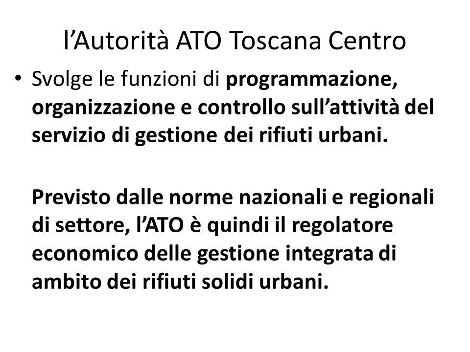 l'Autorità ATO Toscana Centro