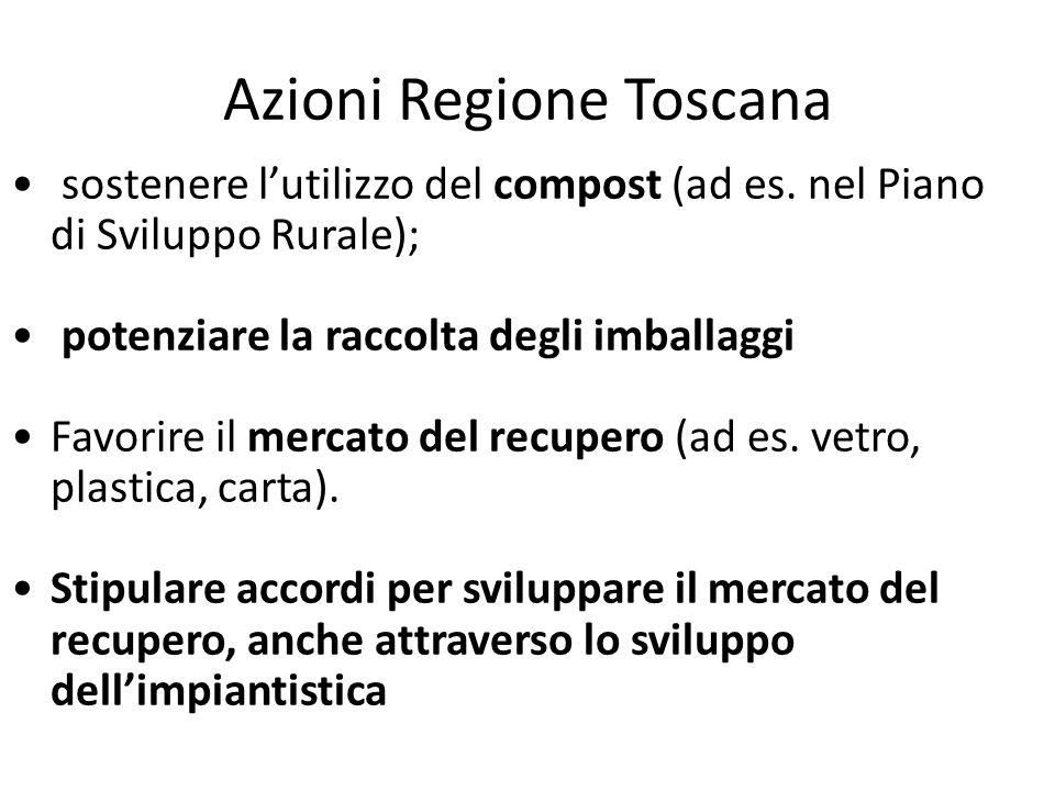 Azioni Regione Toscana