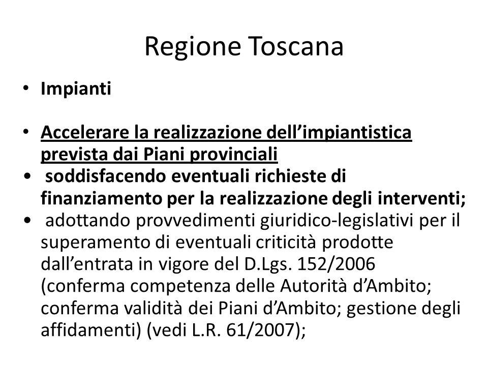 Regione Toscana Impianti