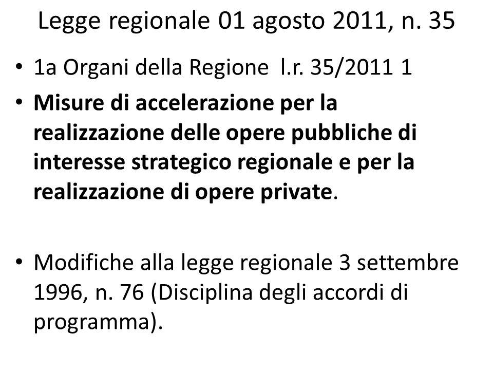 Legge regionale 01 agosto 2011, n. 35
