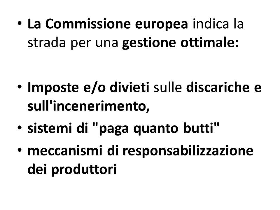 La Commissione europea indica la strada per una gestione ottimale: