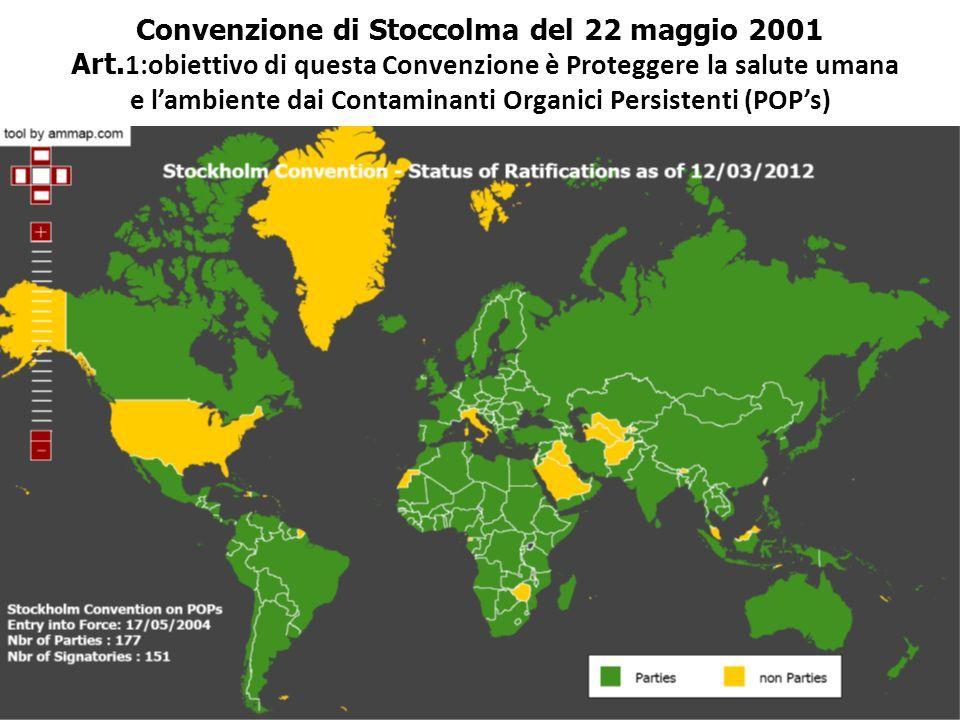 Convenzione di Stoccolma del 22 maggio 2001 Art