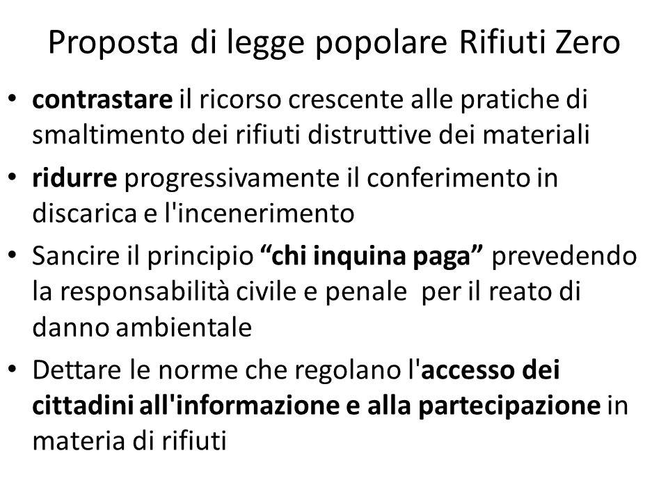 Proposta di legge popolare Rifiuti Zero