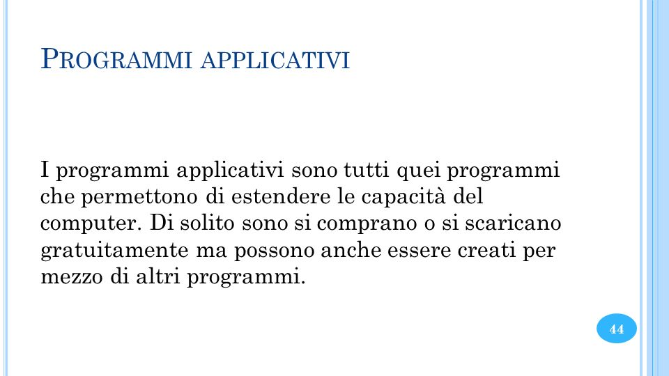 Programmi applicativi