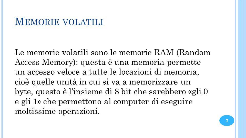 Memorie volatili