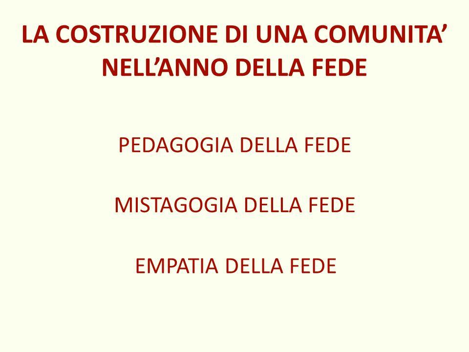 LA COSTRUZIONE DI UNA COMUNITA' NELL'ANNO DELLA FEDE