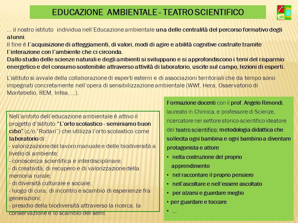 EDUCAZIONE AMBIENTALE - TEATRO SCIENTIFICO