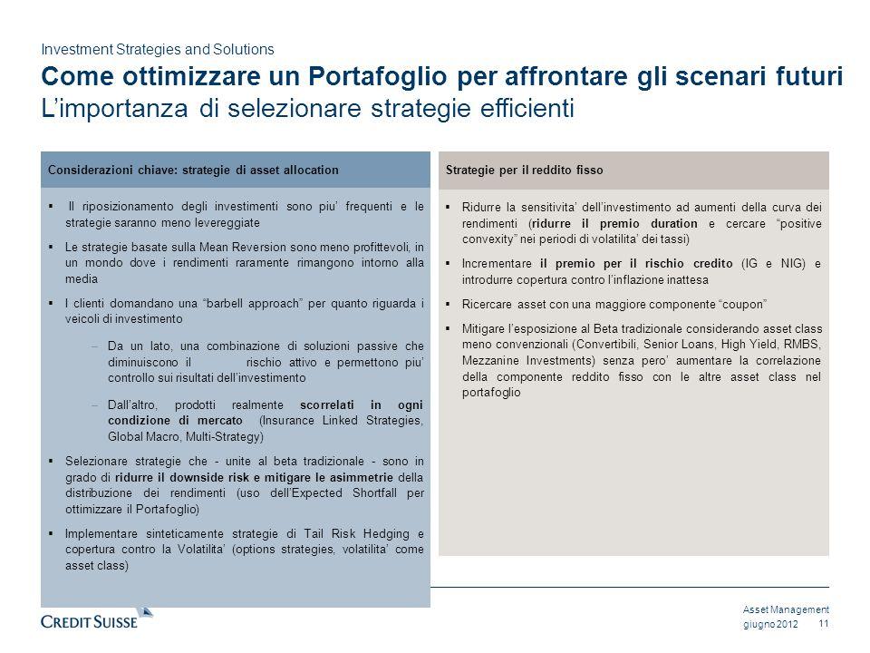 Come ottimizzare un Portafoglio per affrontare gli scenari futuri L'importanza di selezionare strategie efficienti