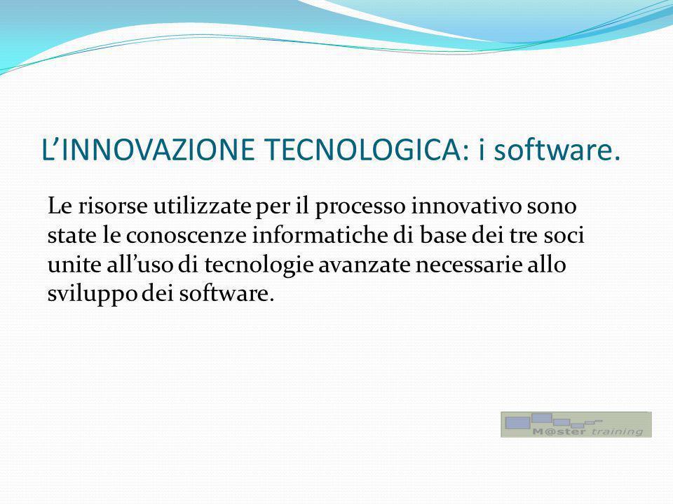 L'INNOVAZIONE TECNOLOGICA: i software.