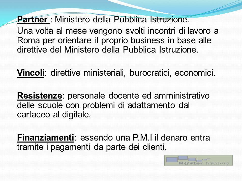 Partner : Ministero della Pubblica Istruzione