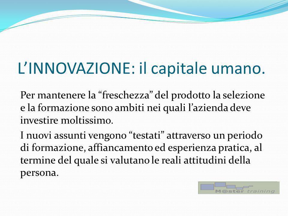L'INNOVAZIONE: il capitale umano.