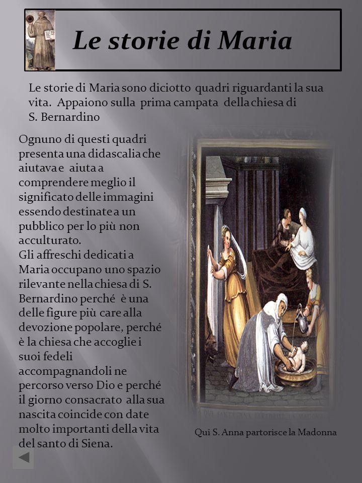Qui S. Anna partorisce la Madonna