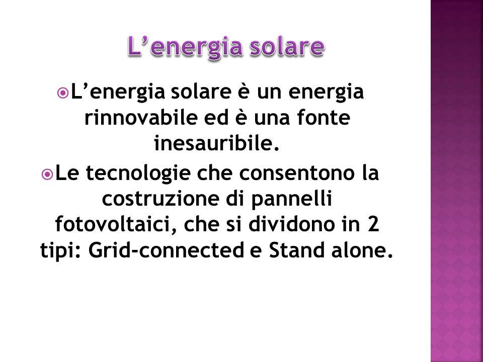 L'energia solare è un energia rinnovabile ed è una fonte inesauribile.