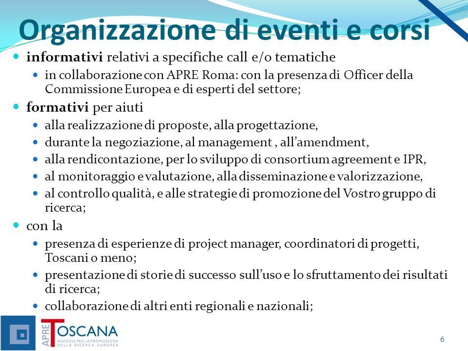Organizzazione di eventi e corsi