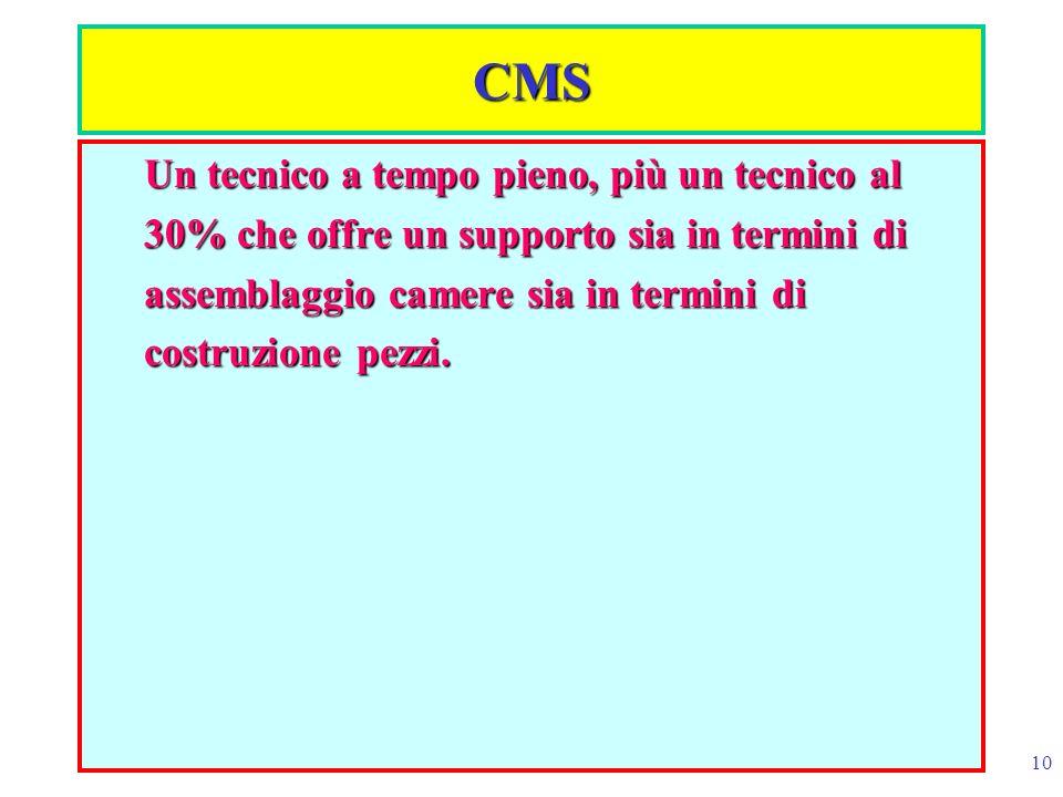 CMS Un tecnico a tempo pieno, più un tecnico al