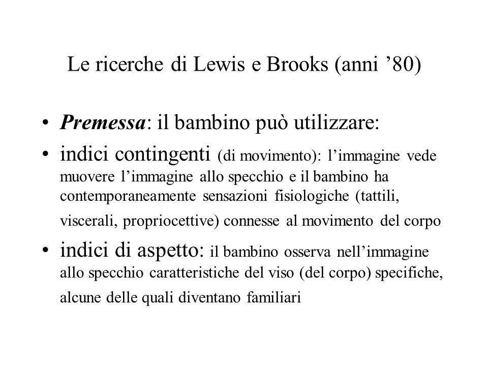 Le ricerche di Lewis e Brooks (anni '80)