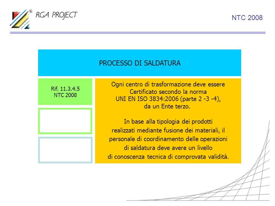 NTC 2008 PROCESSO DI SALDATURA