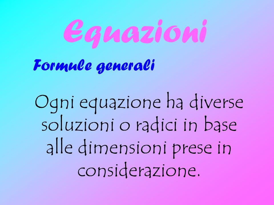 Equazioni Formule generali.