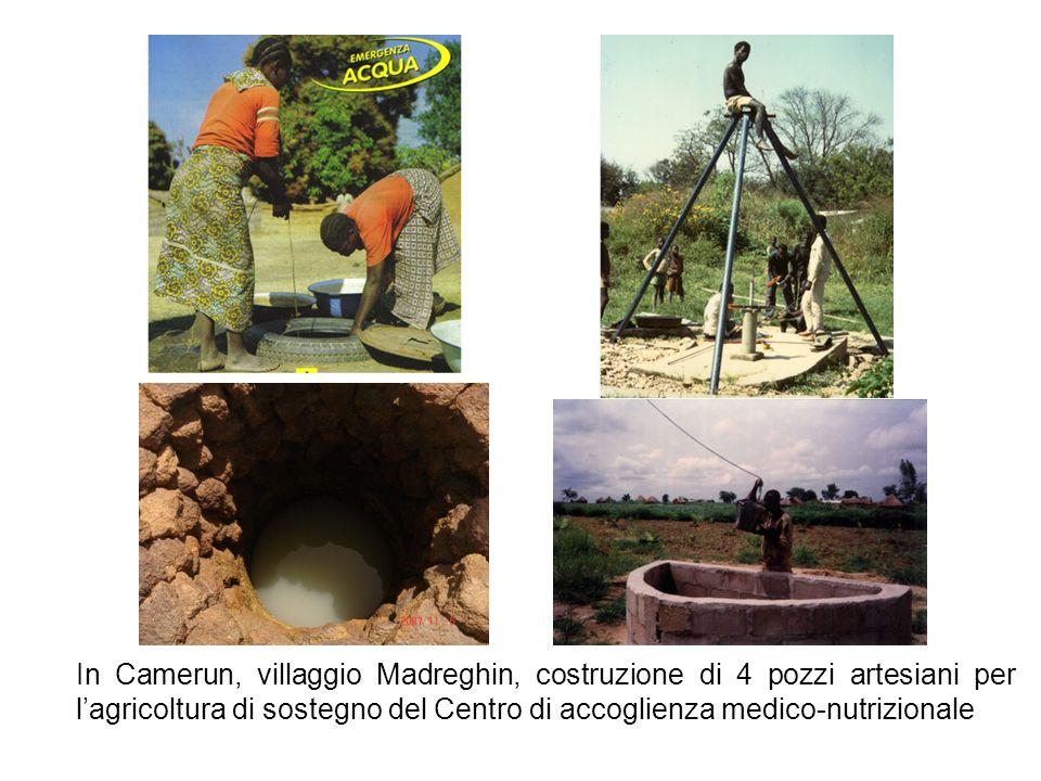 In Camerun, villaggio Madreghin, costruzione di 4 pozzi artesiani per l'agricoltura di sostegno del Centro di accoglienza medico-nutrizionale