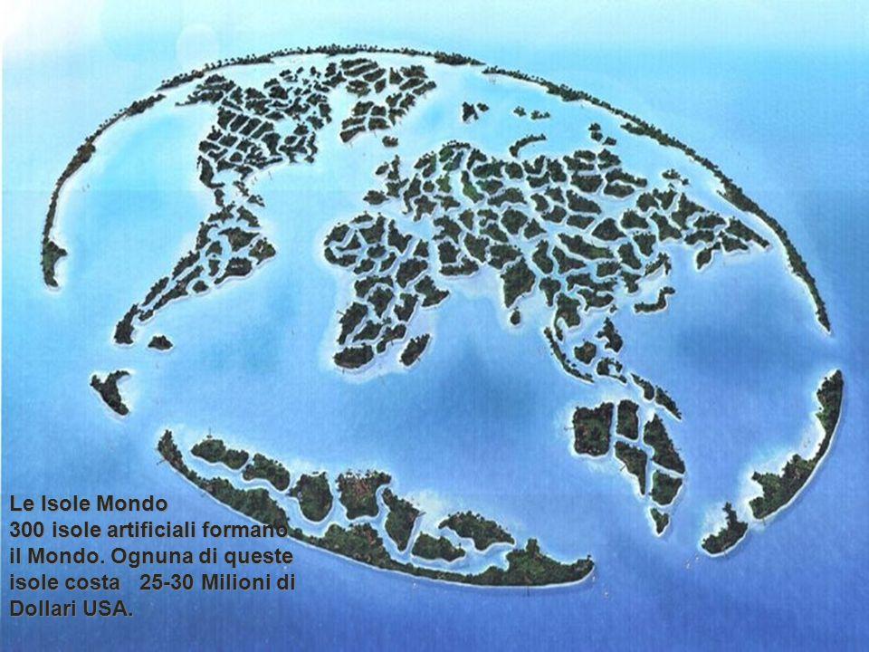 Le Isole Mondo 300 isole artificiali formano il Mondo