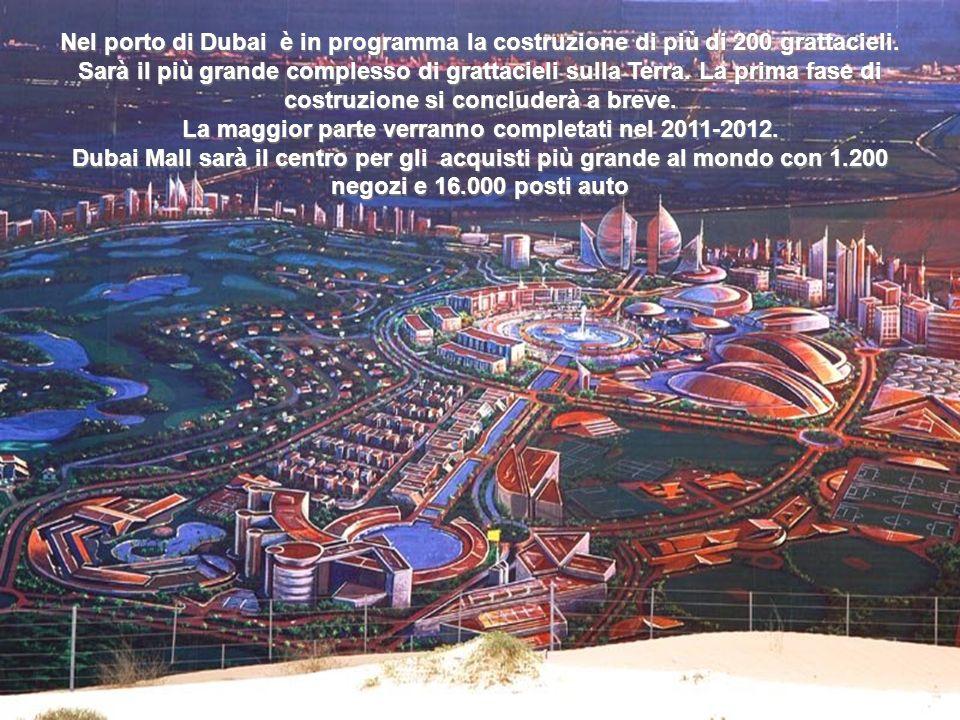 Nel porto di Dubai è in programma la costruzione di più di 200 grattacieli.