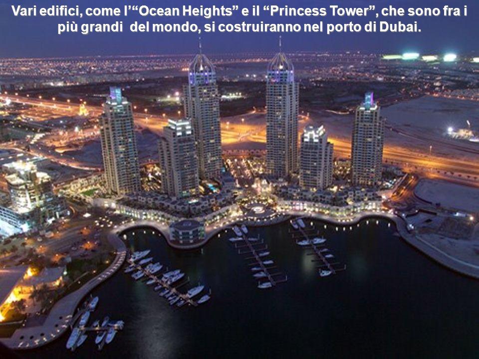 Vari edifici, come l' Ocean Heights e il Princess Tower , che sono fra i più grandi del mondo, si costruiranno nel porto di Dubai.
