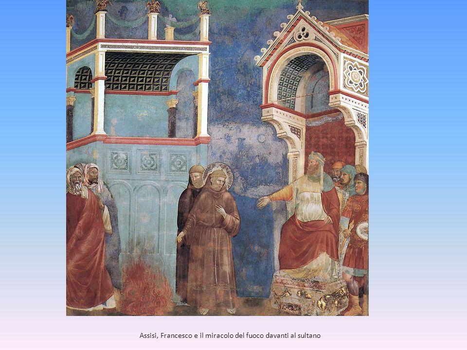 Assisi, Francesco e il miracolo del fuoco davanti al sultano