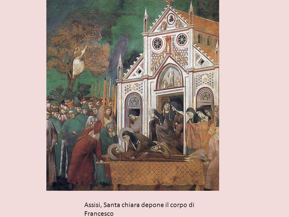 Assisi, Santa chiara depone il corpo di Francesco