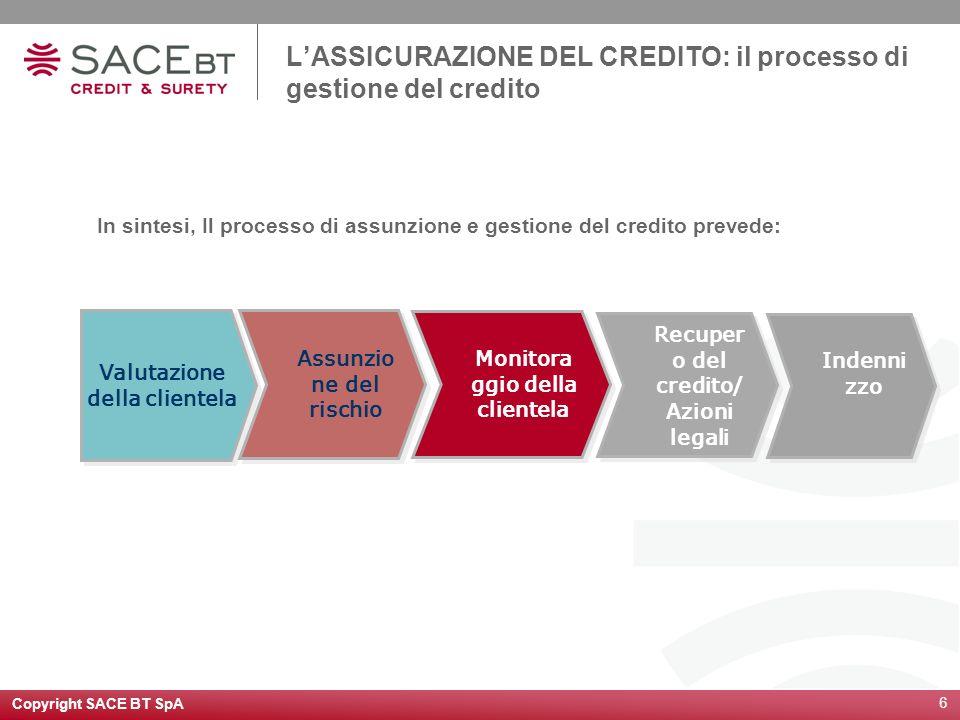 L'ASSICURAZIONE DEL CREDITO: il processo di gestione del credito