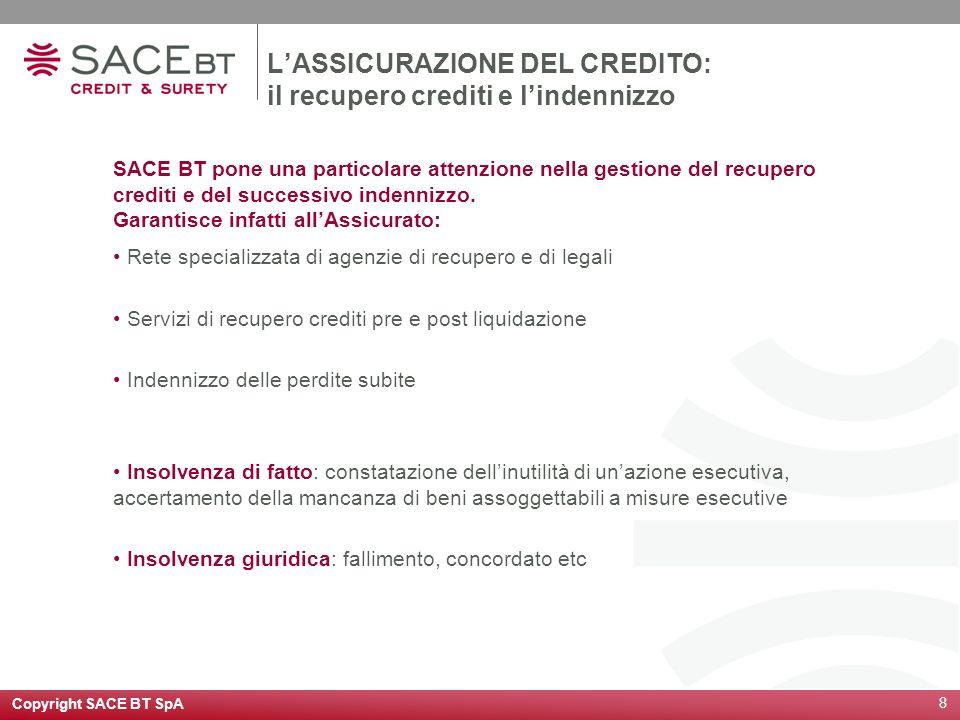 L'ASSICURAZIONE DEL CREDITO: il recupero crediti e l'indennizzo