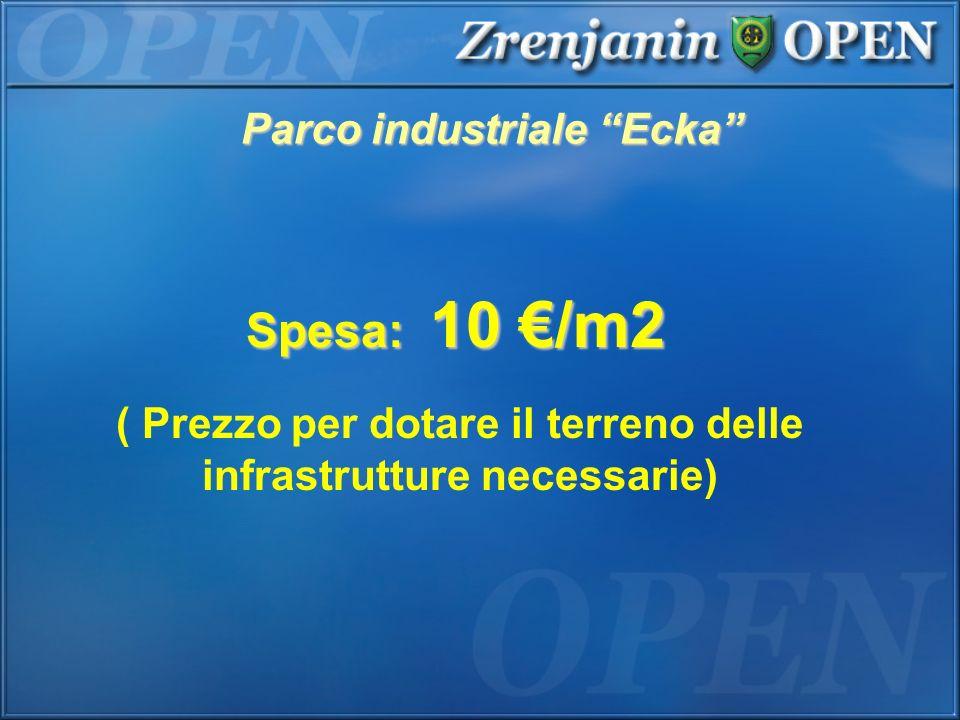 Spesa: 10 €/m2 Parco industriale Ecka