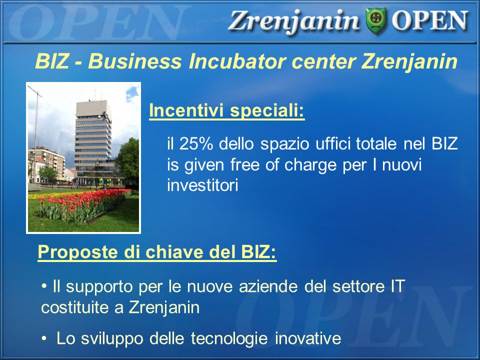 BIZ - Business Incubator center Zrenjanin