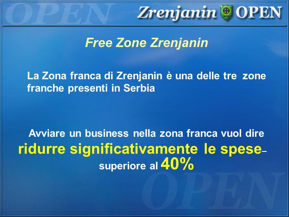 Free Zone Zrenjanin La Zona franca di Zrenjanin è una delle tre zone franche presenti in Serbia. Avviare un business nella zona franca vuol dire.