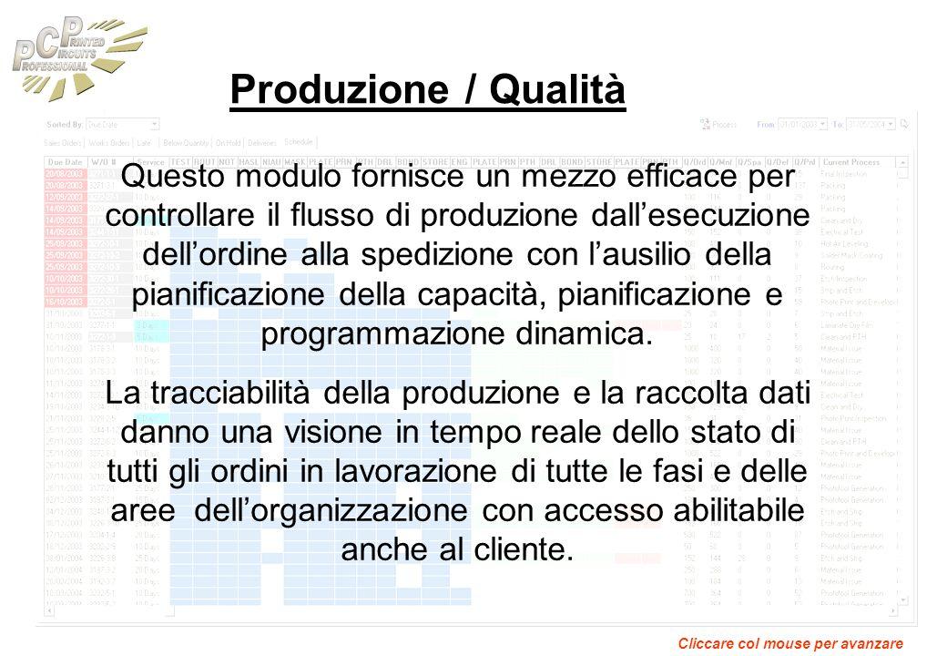 Produzione / Qualità