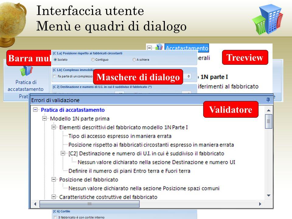 Interfaccia utente Menù e quadri di dialogo