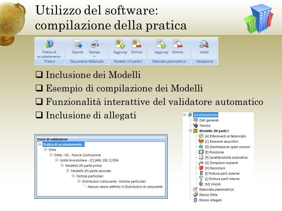 Utilizzo del software: compilazione della pratica