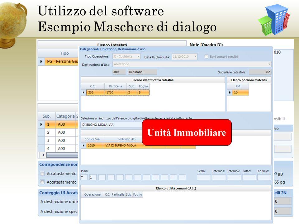 Utilizzo del software Esempio Maschere di dialogo