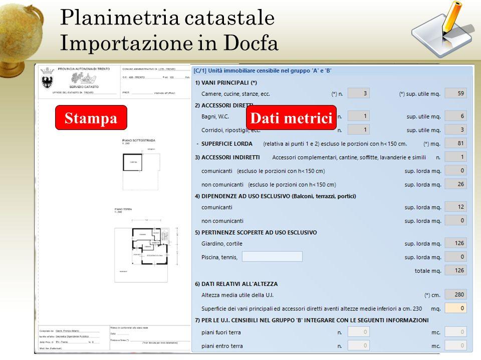 Planimetria catastale Importazione in Docfa