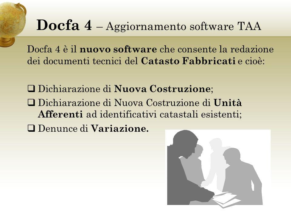 Docfa 4 – Aggiornamento software TAA