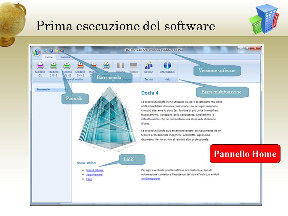 Prima esecuzione del software